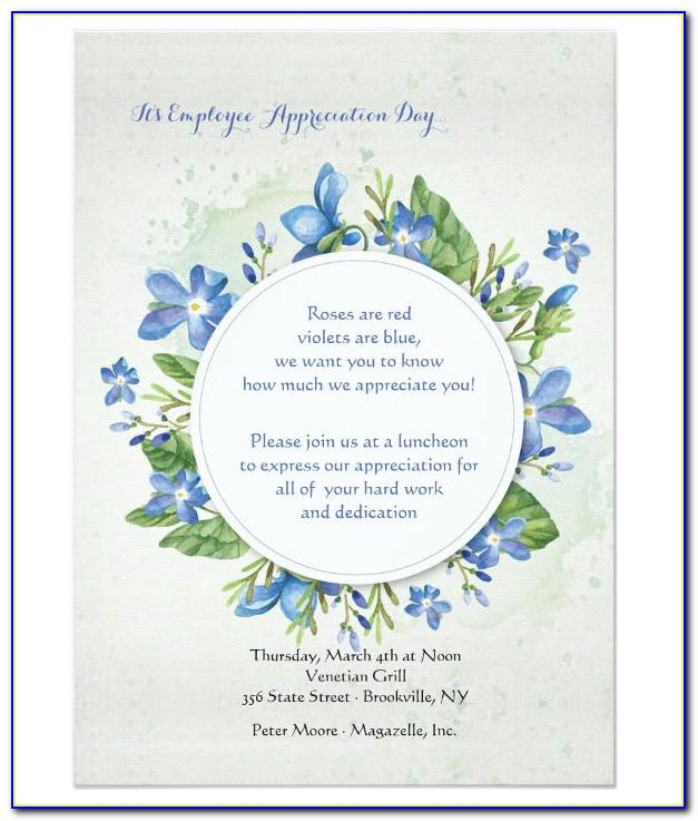 Employee Appreciation Lunch Invitation Sample