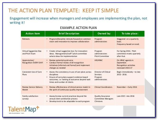 Employee Engagement Plan Sample