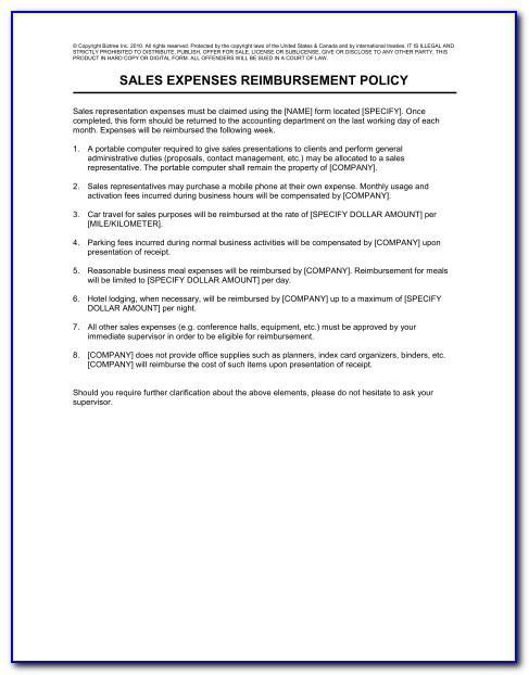 Employee Expense Reimbursement Policy Template