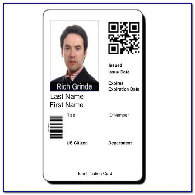 Employee Id Badges Template