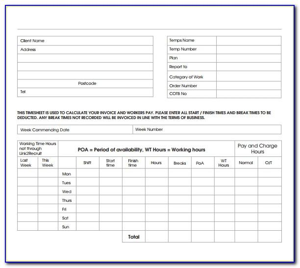 Employee Invoice Template Excel