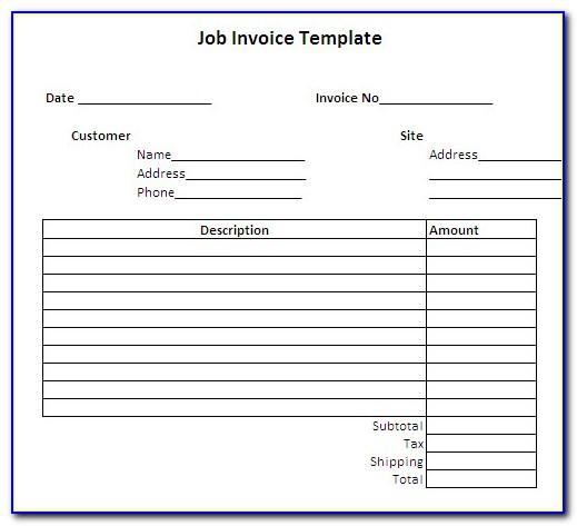 Employee Payment Invoice Template