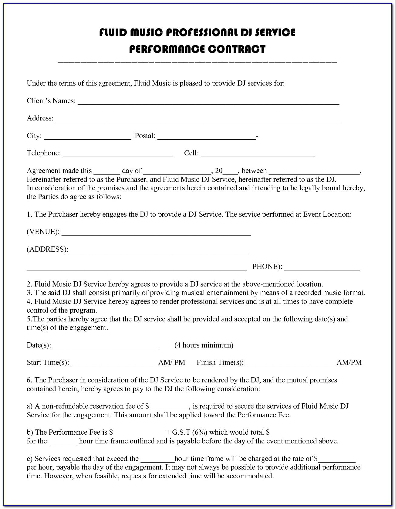 Employee Performance Agreement Template Free