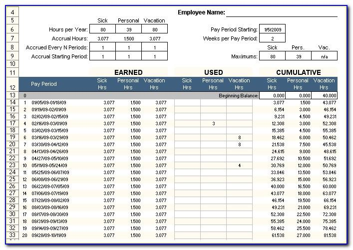 Employee Pto Tracker Template