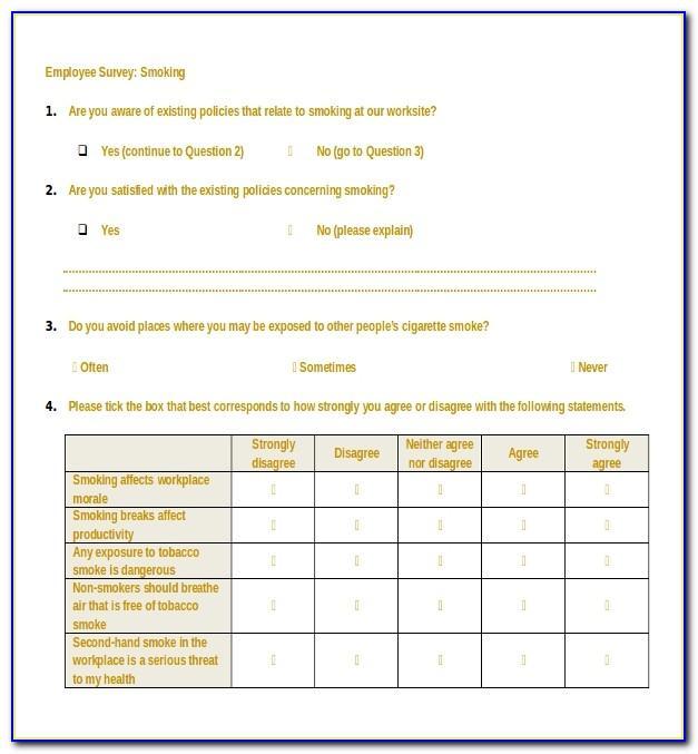 Employee Survey Sample Answers