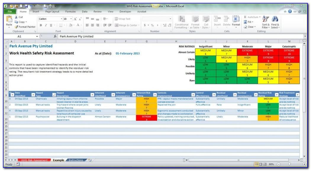 Enterprise Risk Management Template Excel