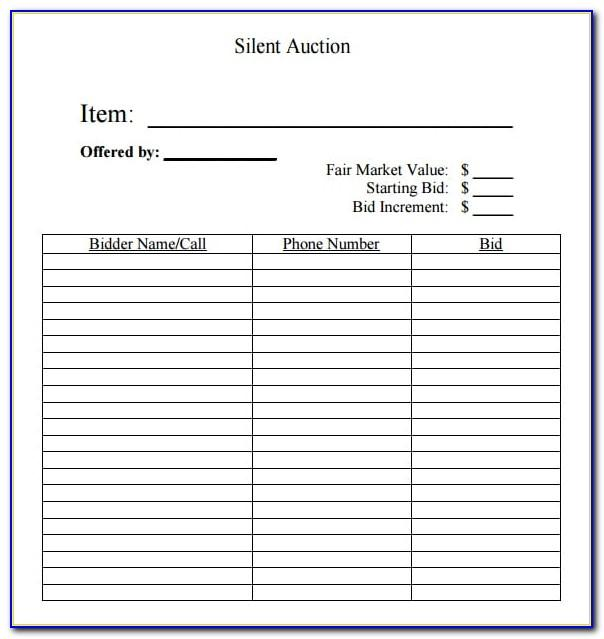Excel Auction Template