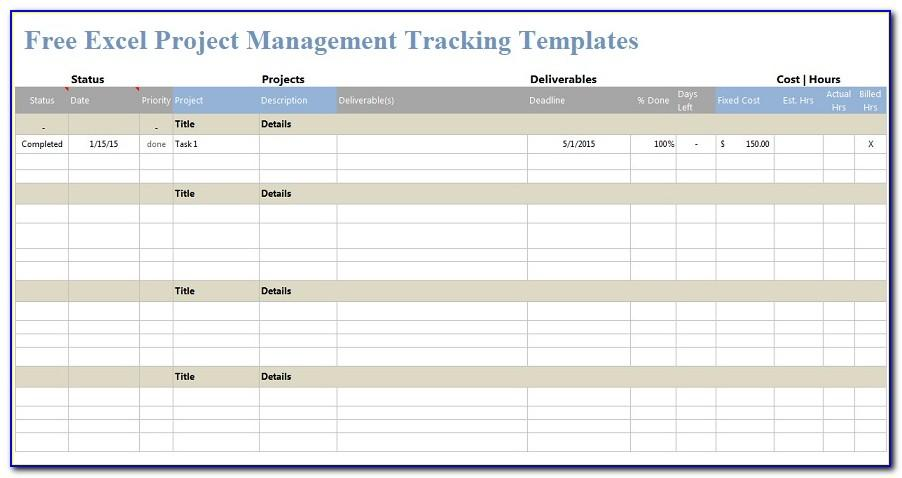 Excel Task Tracker Template Free Download