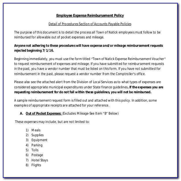 Expense Reimbursement Policy Template