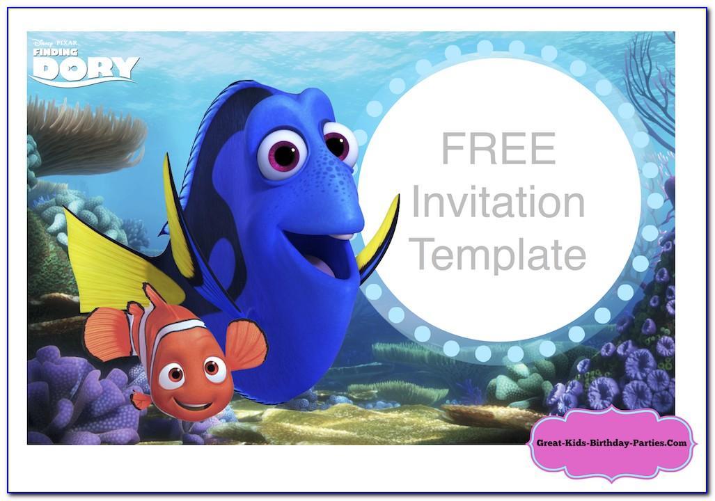 Finding Nemo Invitation Template Free