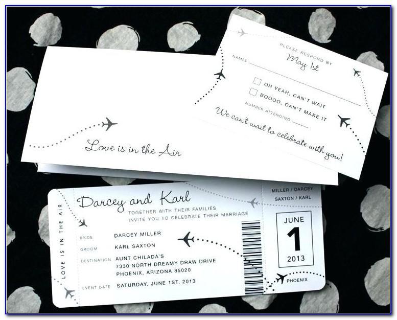Flight Ticket Invitation Template