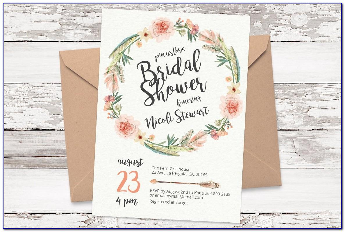 Floral Wreath Invitation Template