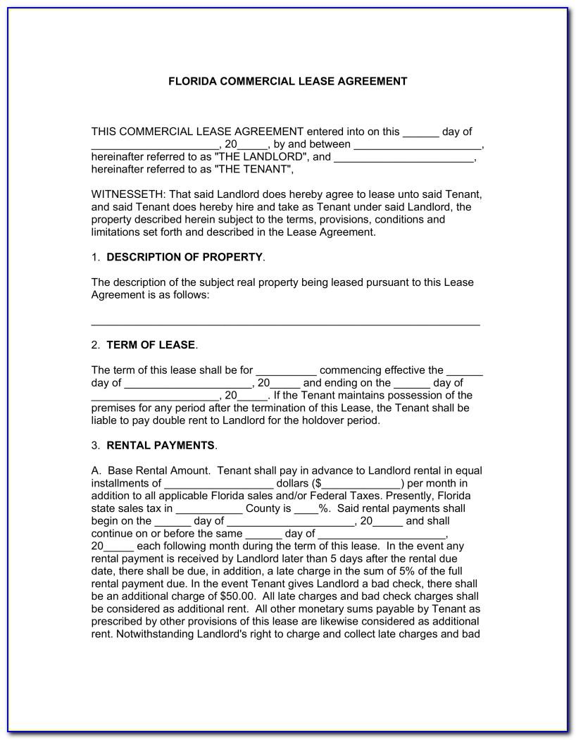 Florida Vacation Rental Agreement Forms Free
