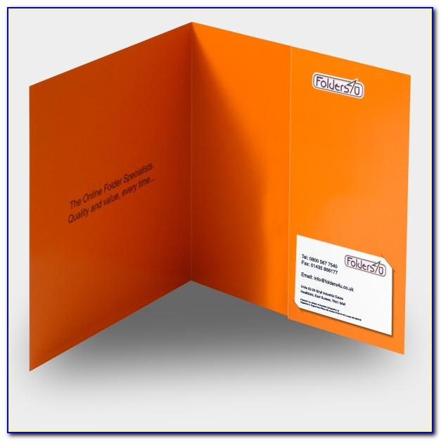 Folder With Business Card Slot Template