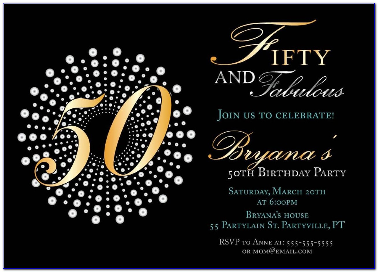 Free 50 Birthday Invitation Templates