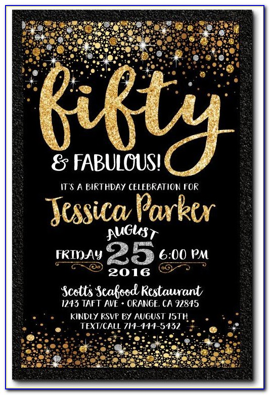 Free 50th Birthday Invitation Templates For Her