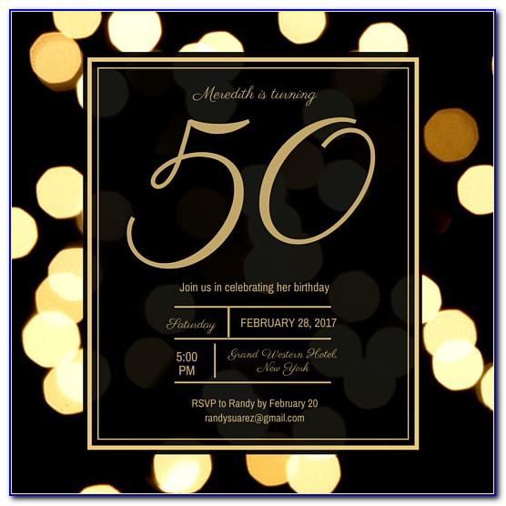 Free 50th Birthday Invitation Templates Word