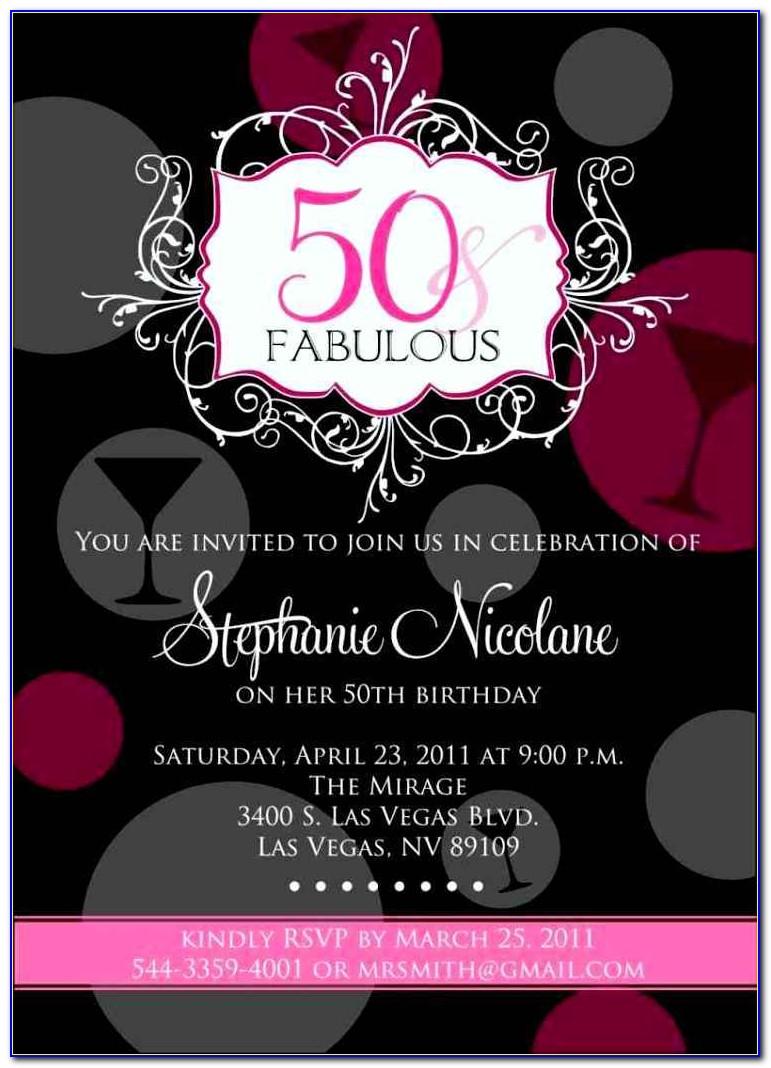 Free 50th Birthday Party Invitation Templates