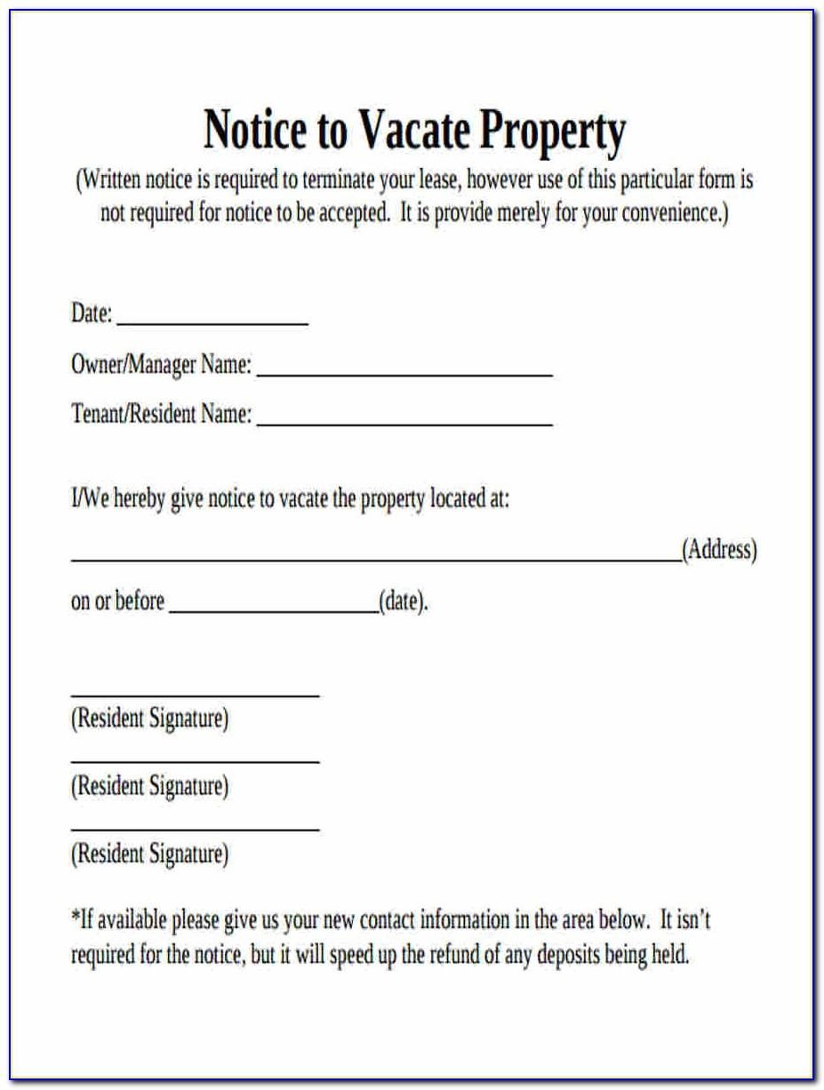 Free 60 Day Notice To Vacate California Template