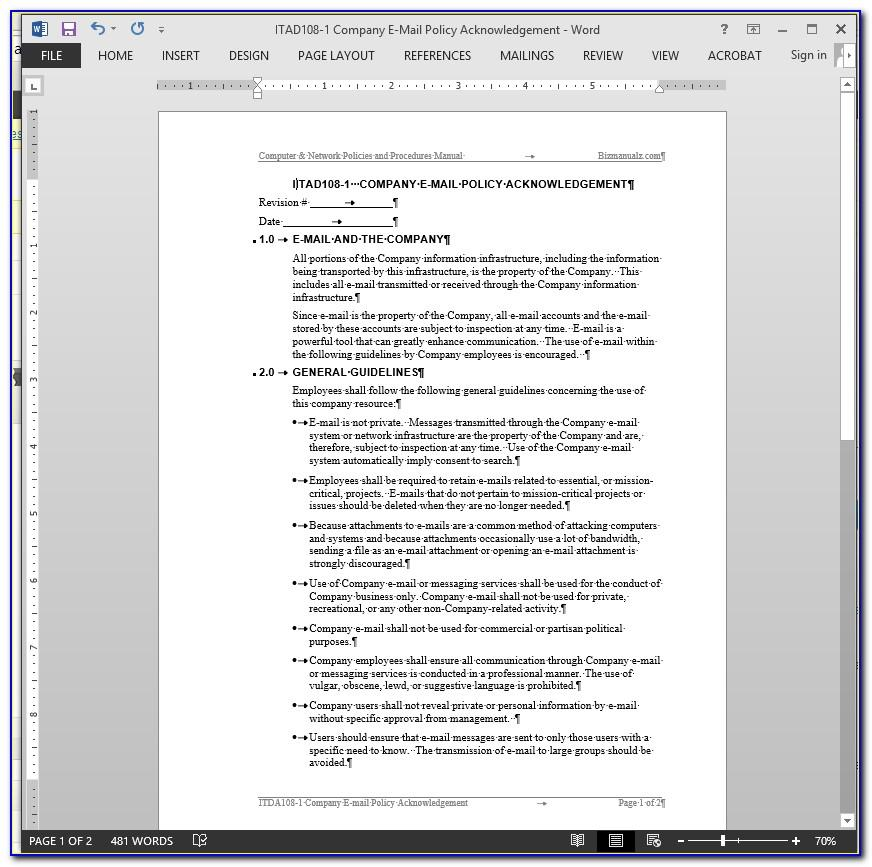 Free Accounting Policy And Procedures Manual Samples