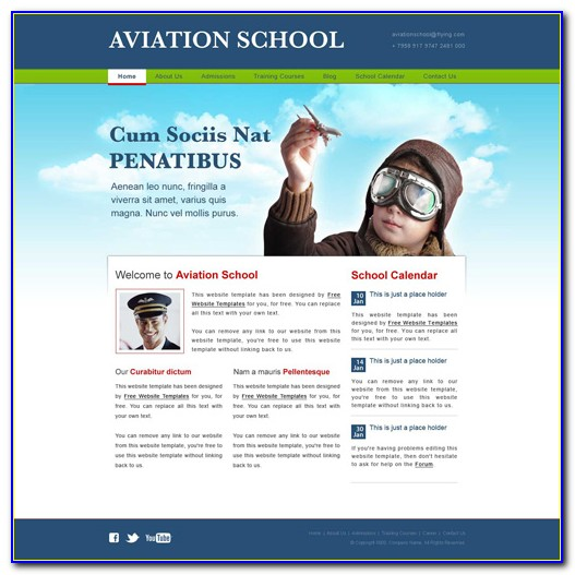 Free Aviation Website Templates