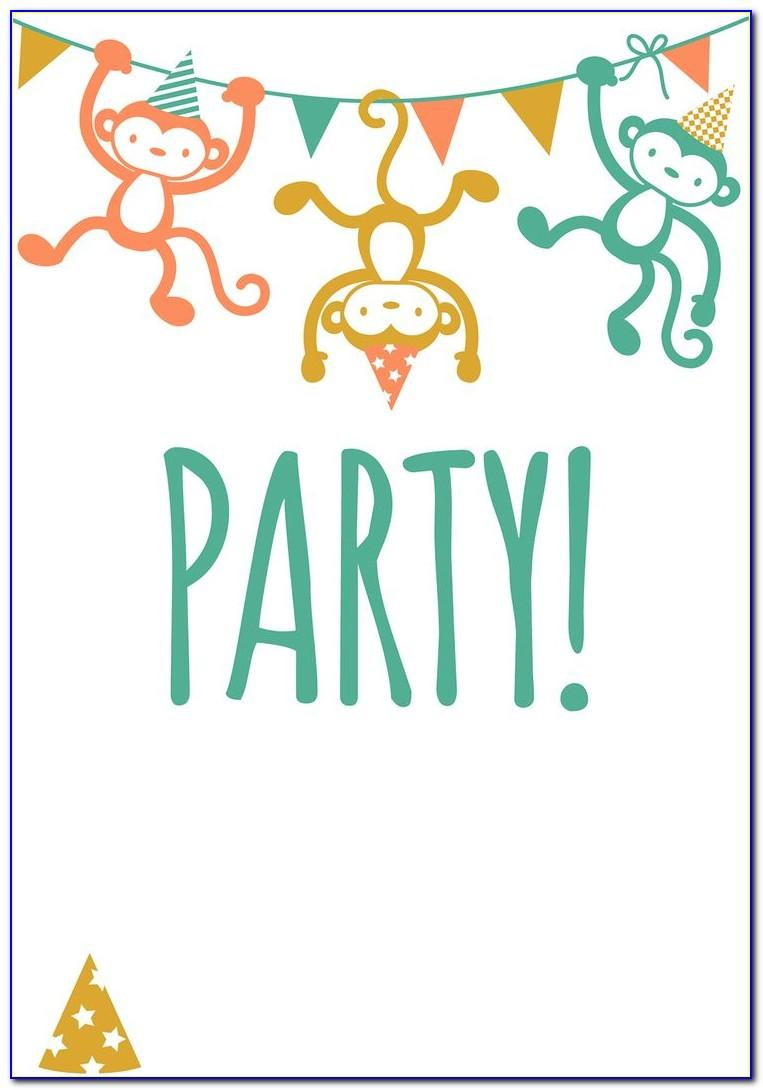 Free Birthday Party Invitation Templates Printable