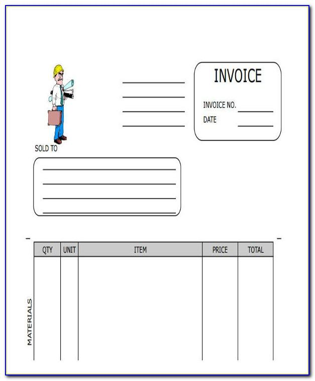 Free Blank Contractor Invoice Template