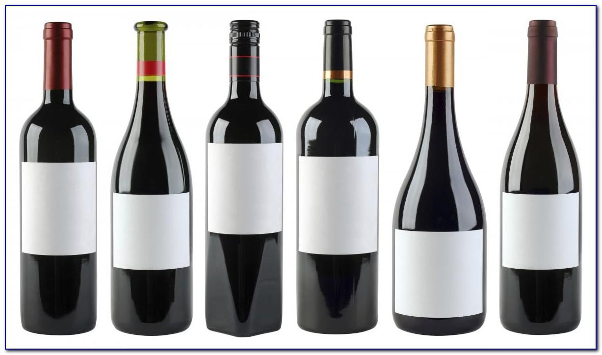 Free Blank Wine Bottle Label Template
