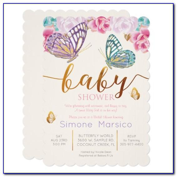 Free Butterfly Baby Shower Invitation Templates