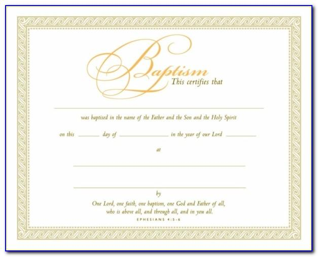 Free Christian Baptism Certificate Template