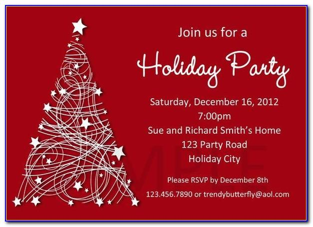 Free Christmas Invitation Template Download