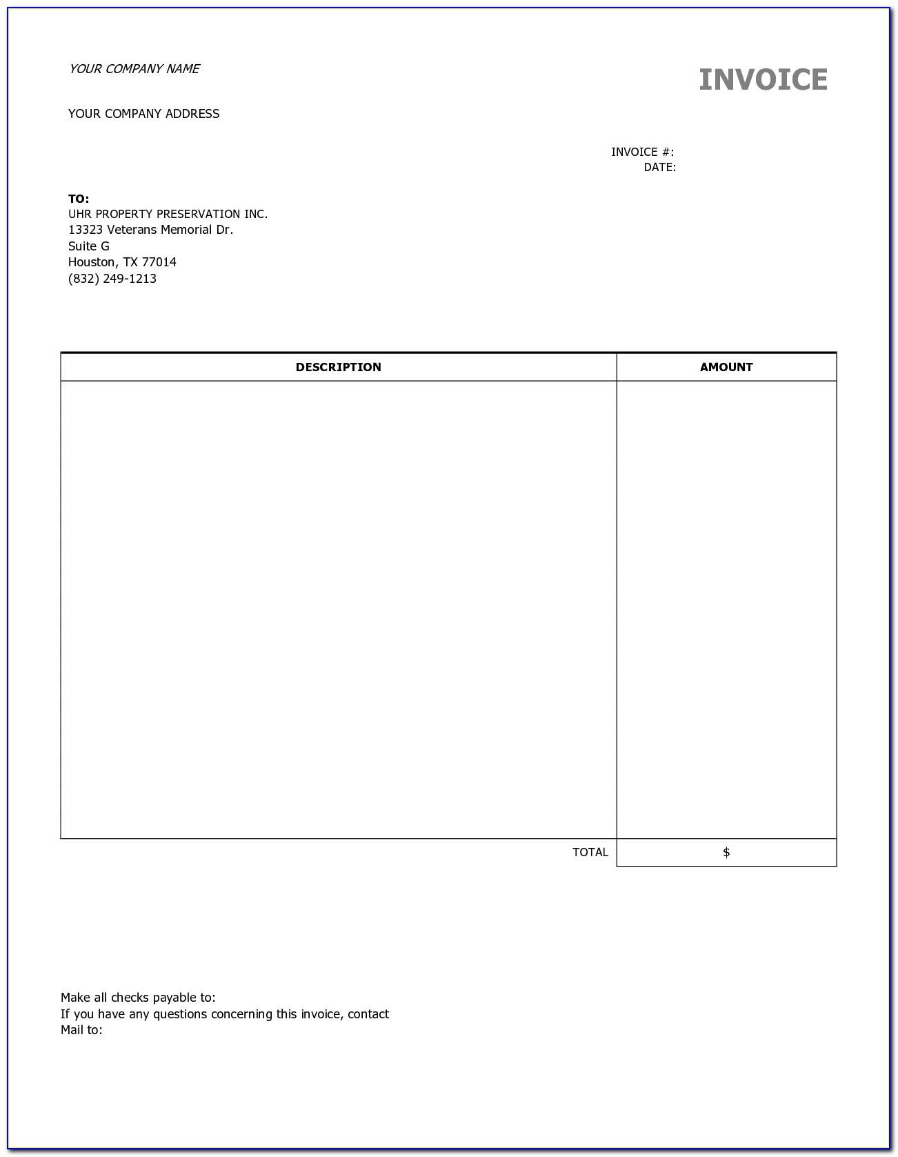 Free Contractor Invoice Template Uk