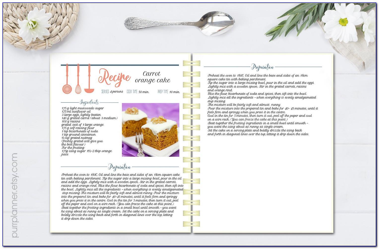Free Cookbook Recipe Templates