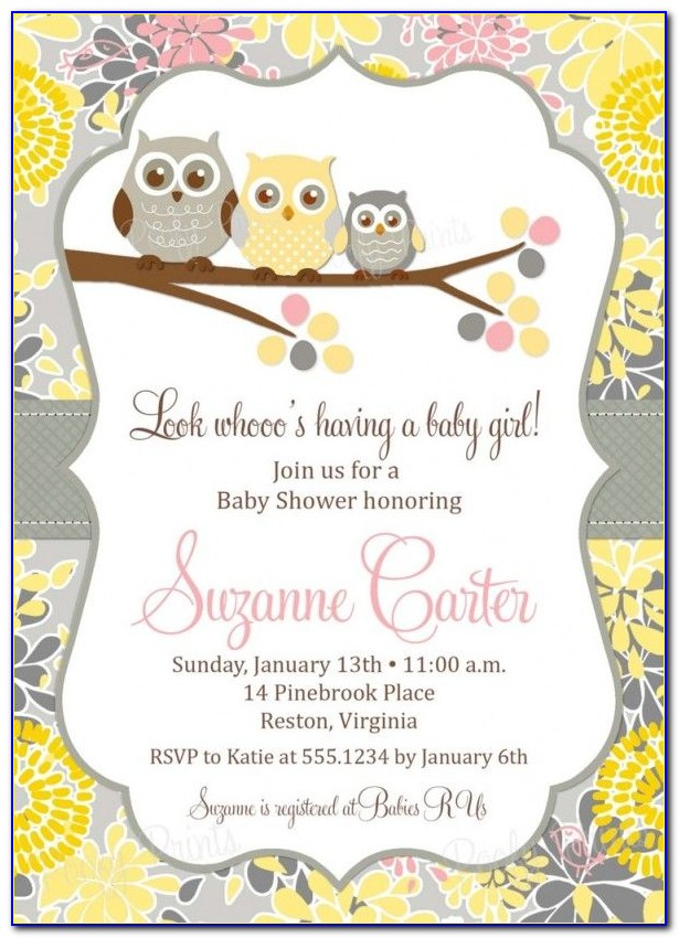 Free Cute Baby Shower Invitation Templates
