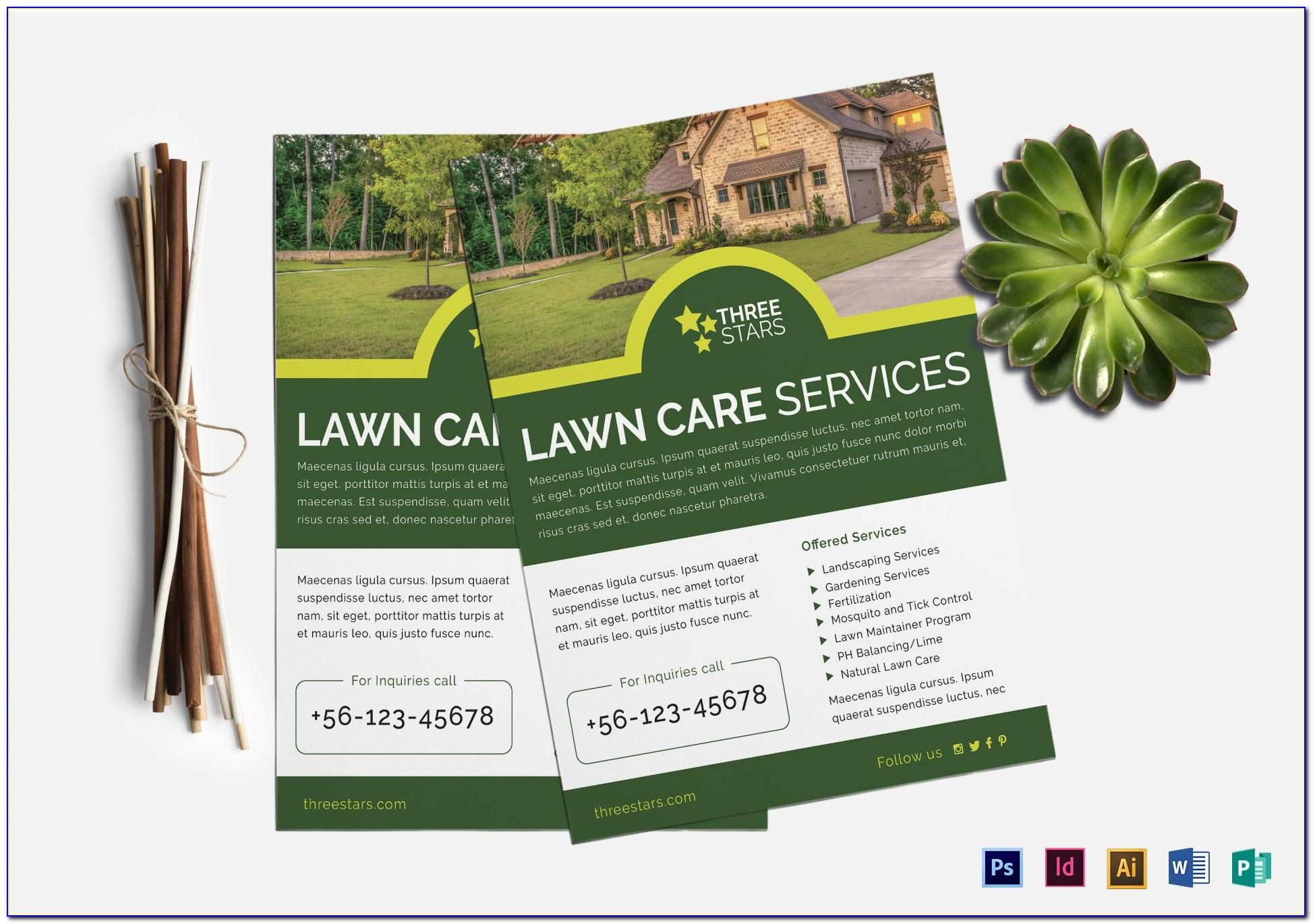 Free Downloadable Lawn Care Flyer Templates
