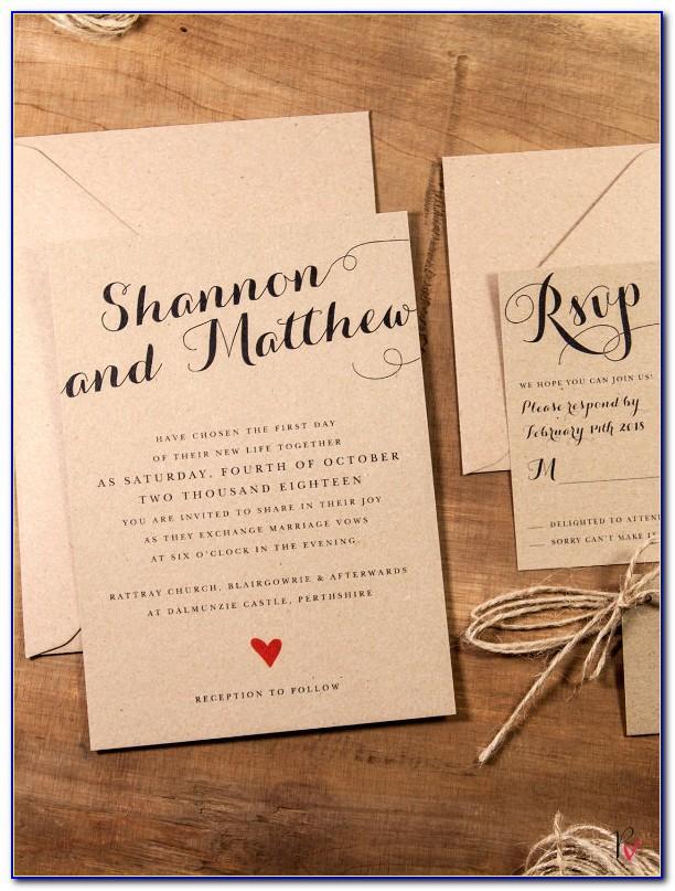 Free Downloadable Rustic Wedding Invitation Templates