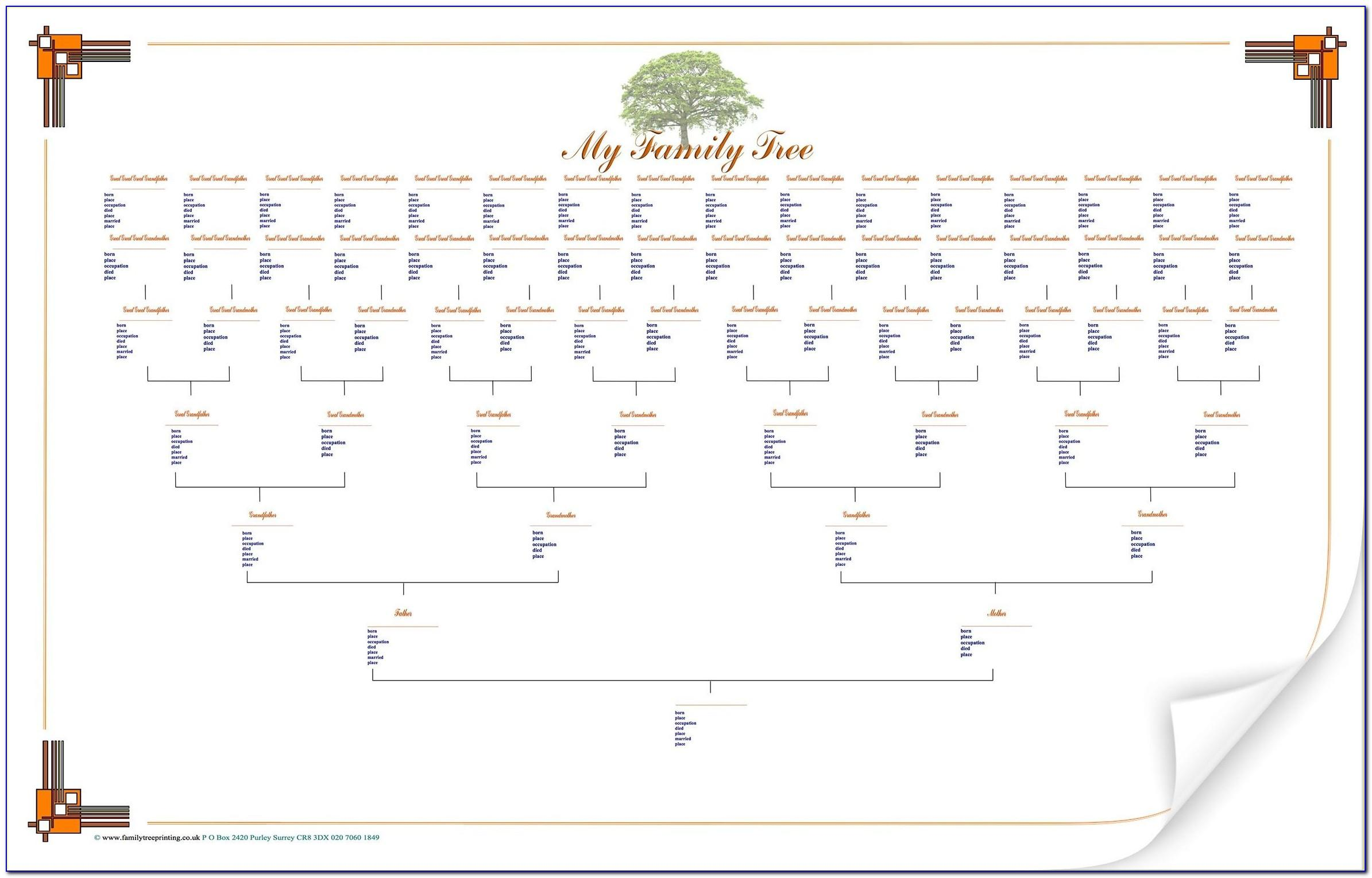 Free Editable Large Family Tree Template