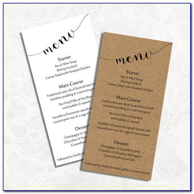 Free Editable Restaurant Menu Templates For Word