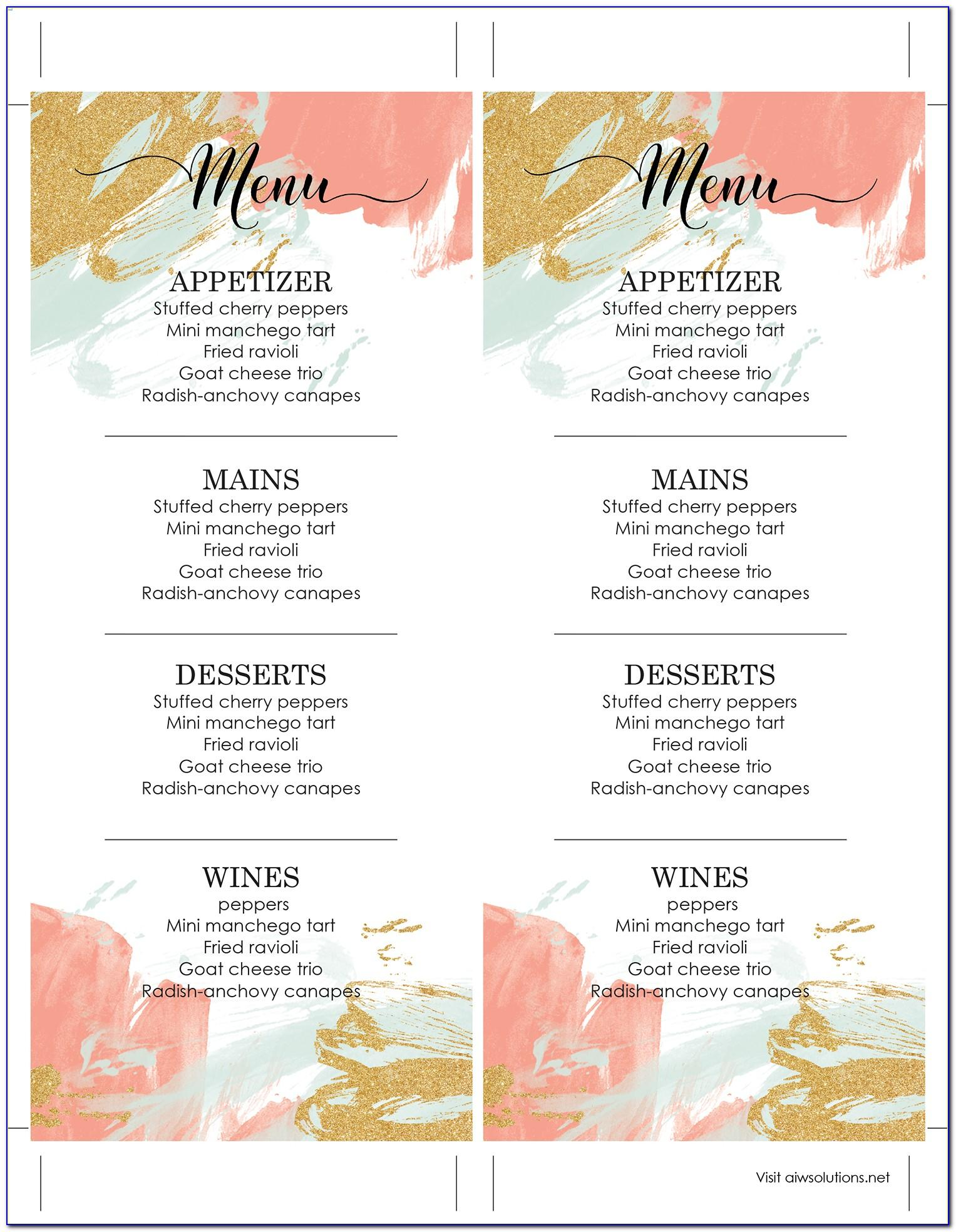 Free Editable Restaurant Menu Templates Indesign