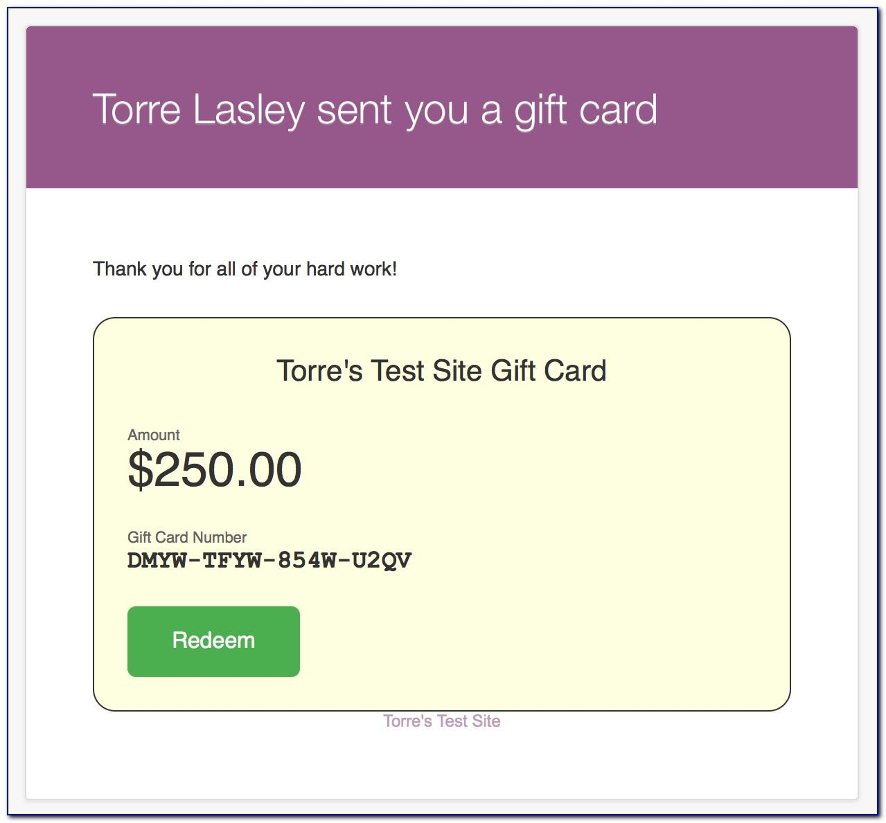 Free Email Gift Certificate Templates