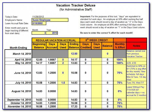 Free Employee Pto Tracker Template