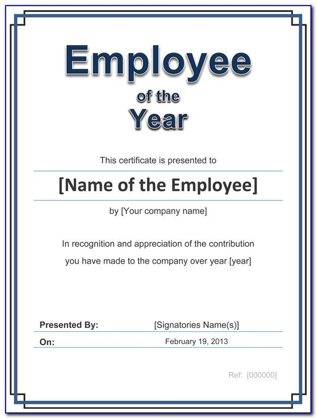 Free Employee Service Award Certificate Template