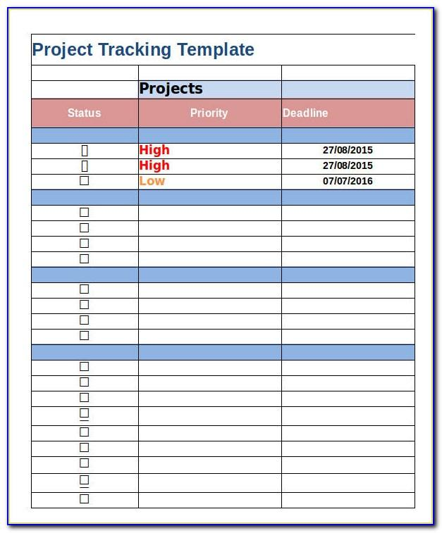 Free Excel Project Management Tracking Dashboard Templates