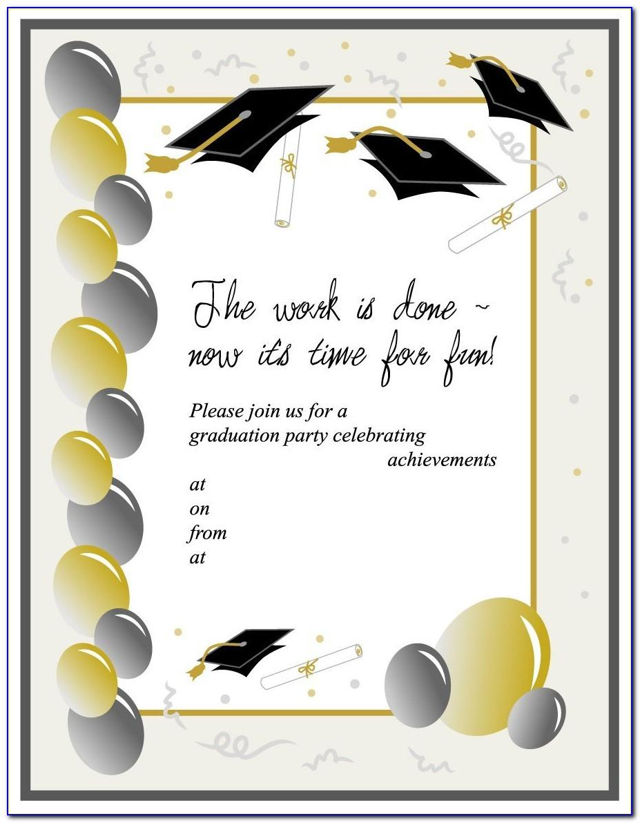 Free Graduation Invitation Templates Free Download