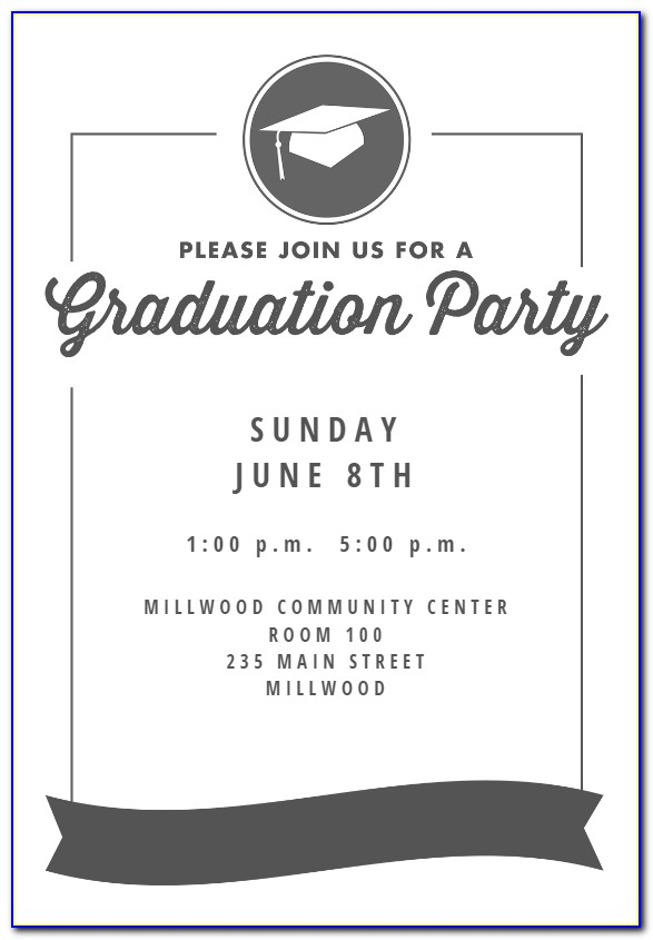 Free Graduation Party Invitation Templates