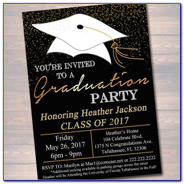 Free Graduation Reception Invitation Templates