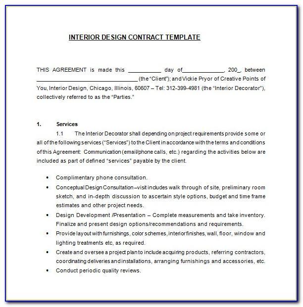 Free Interior Design Contract Template