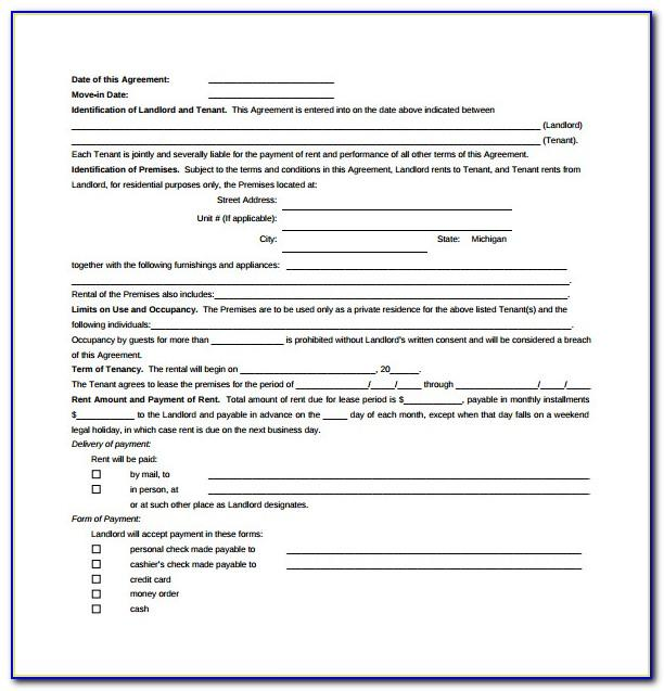 Free Landlord Lease Agreement Template