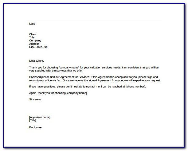 Free Letter Of Agreement Template Download
