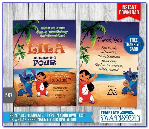 Free Lilo And Stitch Invitation Template